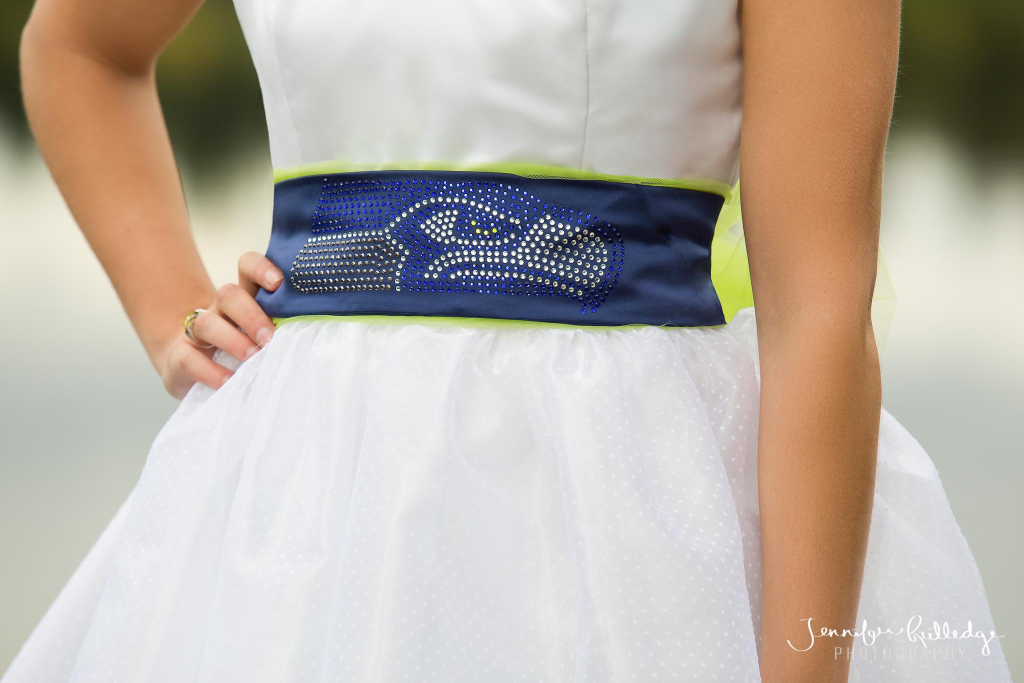 The Ultimate 12th Fan Seahawks Wedding Dress
